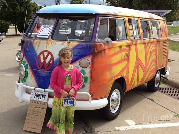 1965 Volkswagen Bus Poster By R A W M