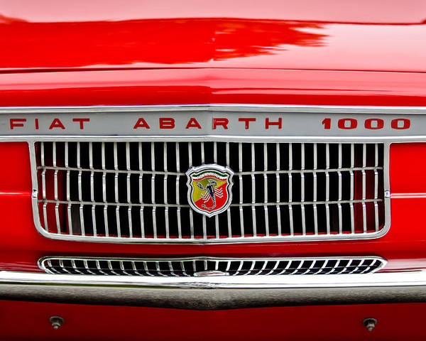 1967 Fiat Abarth 1000 Otr Poster featuring the photograph 1967 Fiat Abarth 1000 Otr Grille by Jill Reger