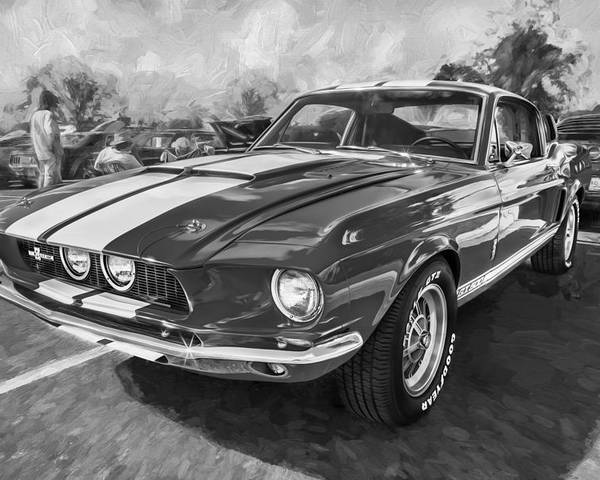 1967 Ford Shelby Mustang Gt500 Painted Bw Poster