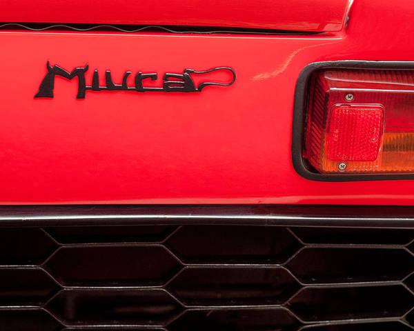 1968 Lamborghini Miura P400 Taillight Emblem Poster By Jill Reger