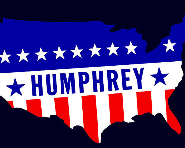 Historicimage Poster featuring the painting 1968 Vote Humphrey For President by Historic Image