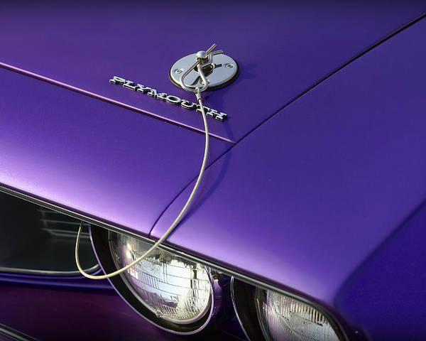 1971 Poster featuring the photograph 1971 Plum Crazy Purple Plymouth 'cuda 440 by Gordon Dean II