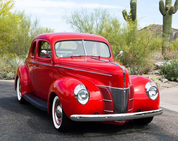 1940 Ford Deluxe Coupe Poster featuring the photograph 1940 Ford Deluxe Coupe by Jill Reger