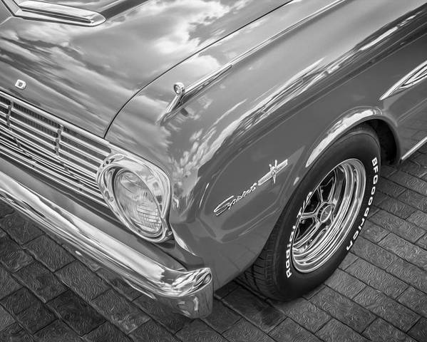 1963 Ford Falcon Sprint Poster featuring the photograph 1963 Ford Falcon Sprint Convertible Bw by Rich Franco
