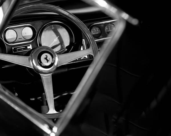 1967 Ferrari 275 Gtb 4 Steering Wheel Emblem Poster featuring the photograph 1967 Ferrari 275 Gtb 4 Steering Wheel Emblem by Jill Reger