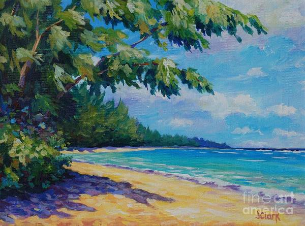 7mb Poster featuring the painting 7 Mile Beach by John Clark