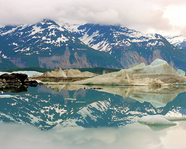 Alaska - Usa State Poster featuring the photograph Alsek Lake by Glenn Oakley