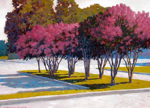 Crepe Myrtles Poster featuring the painting Balanced Account by Kevin Lawrence Leveque