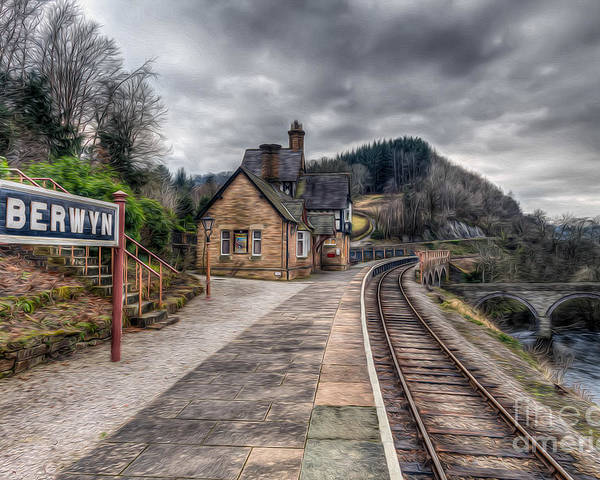 Arch Poster featuring the photograph Berwyn Railway Station by Adrian Evans