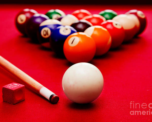 Billards Pool Game Poster By Michal Bednarek