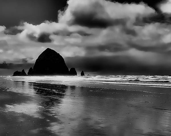 Cannon Beach Poster featuring the photograph Cannon Beach - Oregon by David Patterson