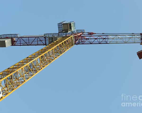 Construction Crane Poster featuring the photograph Crane by Mats Silvan