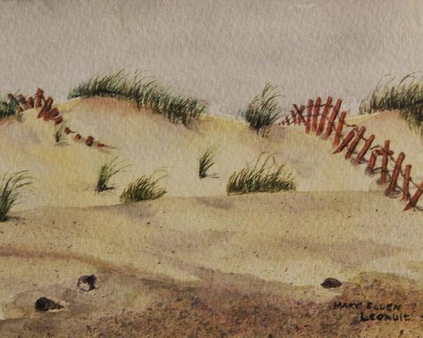 Sand Poster featuring the painting Dunes by Mary Ellen Mueller Legault