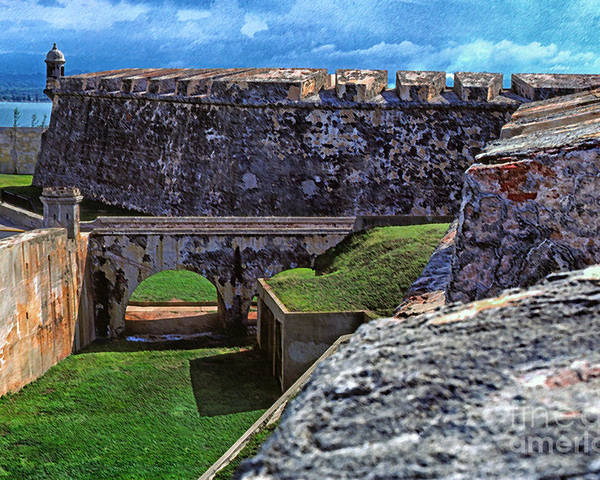Puerto Rico Poster featuring the photograph El Morro Fortress Old San Juan by Thomas R Fletcher