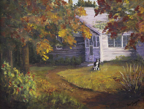 Rural America Poster featuring the painting Grandma's House by Bev Finger