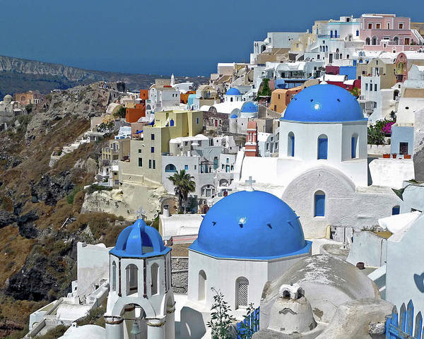 Aegean Poster featuring the photograph Greece, Santorini by David Noyes