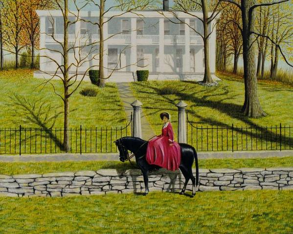 Horse Poster featuring the painting Her Favorite Horse by Stacy C Bottoms