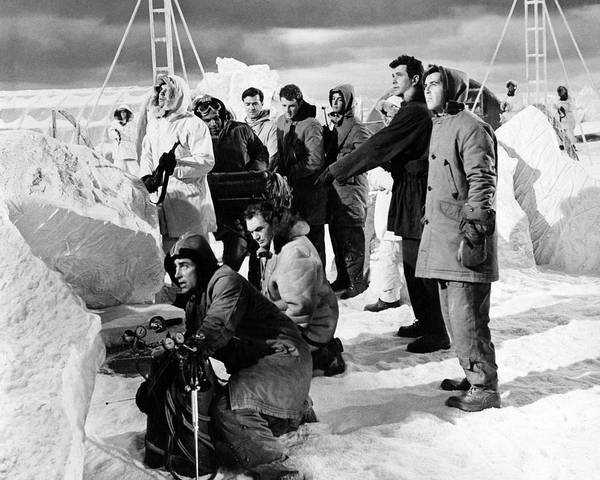Ice Station Zebra Poster featuring the photograph Ice Station Zebra by Silver Screen