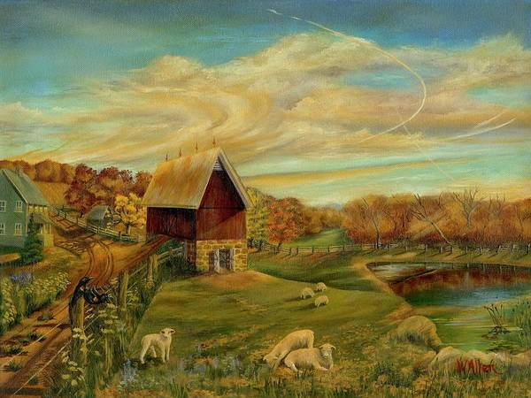 Landscape Poster featuring the painting Kookaree by William Allen