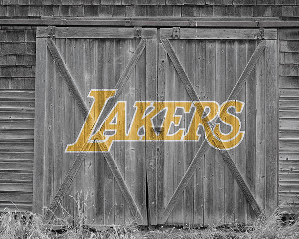 Lakers Poster featuring the photograph Los Angeles Lakers by Joe Hamilton