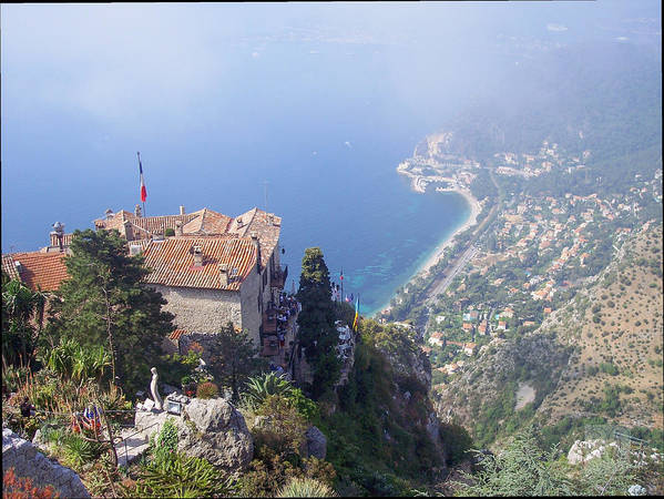 Scenic Poster featuring the photograph Mediterranean Below Eze 2 by David Nichols