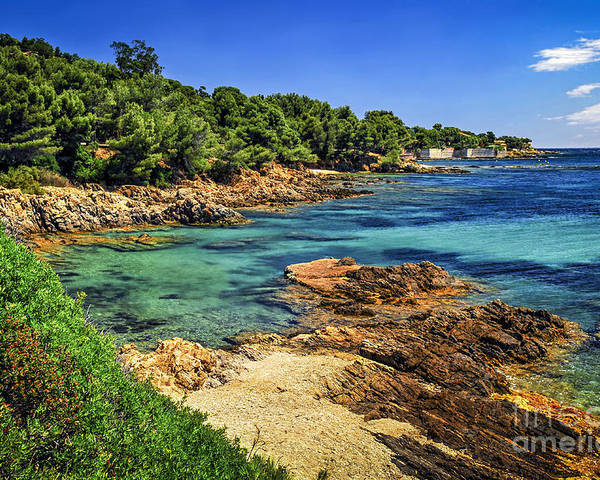 Cote Poster featuring the photograph Mediterranean Coast Of French Riviera by Elena Elisseeva