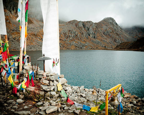 Gosaikunda Poster featuring the photograph Mountain Lake Gosaikunda Nepal by Raimond Klavins