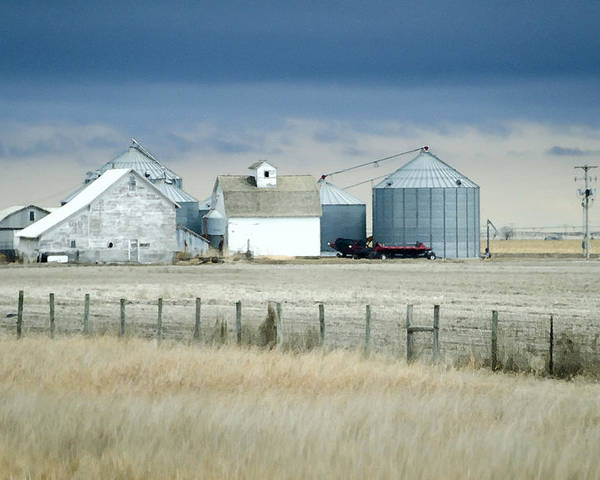 Nebraska Farm Poster featuring the photograph Nebraska by Christine Belt