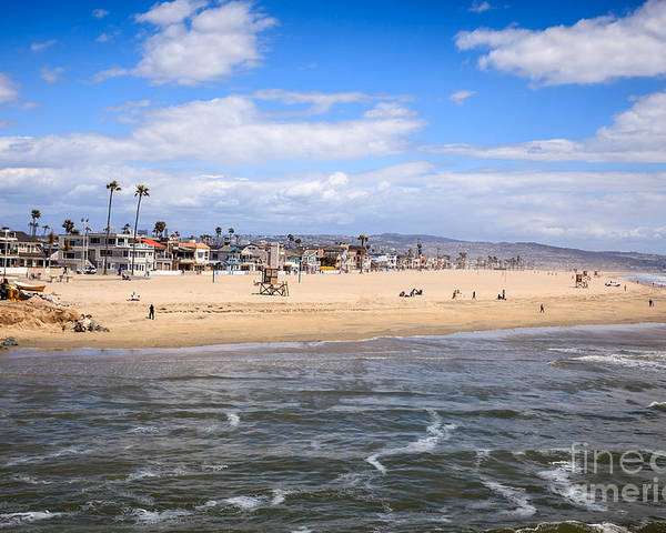 America Poster featuring the photograph Newport Beach In Orange County California by Paul Velgos