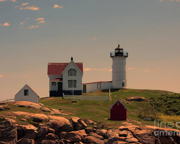 Maine Poster featuring the photograph Nubble Light by K Hines
