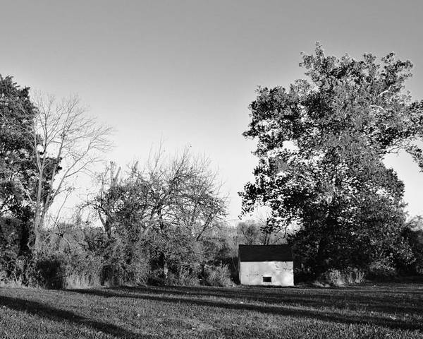 Black & White Poster featuring the photograph Old Barn by Joseph Perno