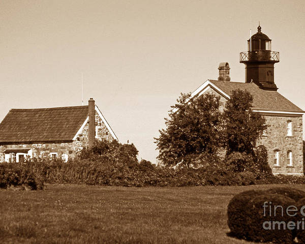 Lighthouses Poster featuring the photograph Old Field Point Lighthouse by Skip Willits