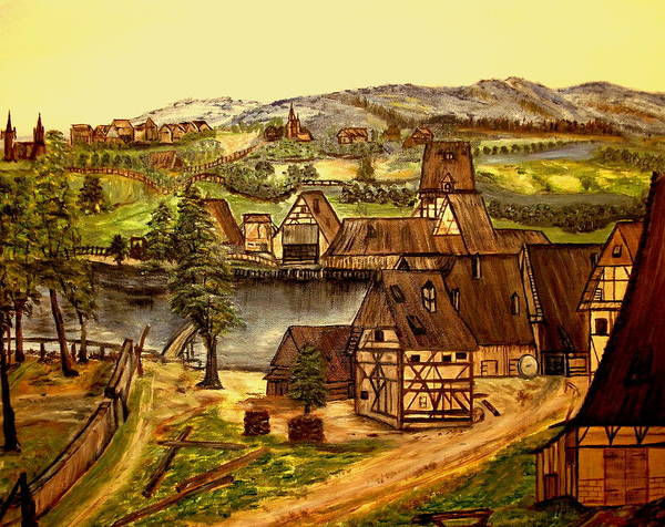Landscape Poster featuring the painting Old Mill by Kenneth LePoidevin