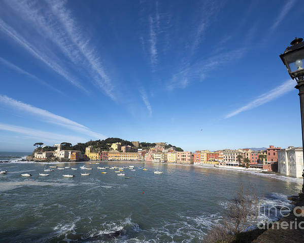 Village Poster featuring the photograph Old Village Sestri Levante by Mats Silvan