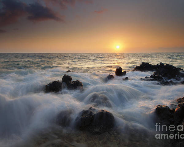 Maui Poster featuring the photograph Over The Rocks by Mike Dawson