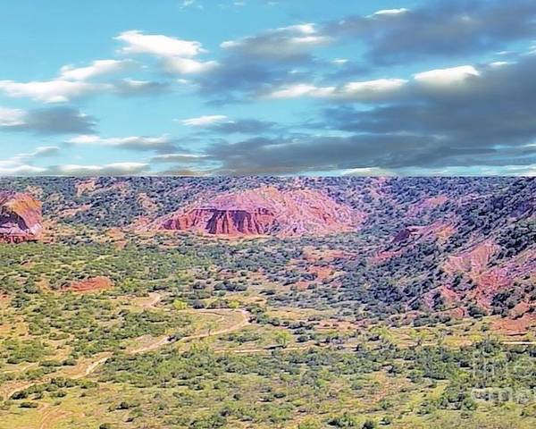 Palo Duro Canyon Poster featuring the photograph Palo Duro Canyon by Janette Boyd