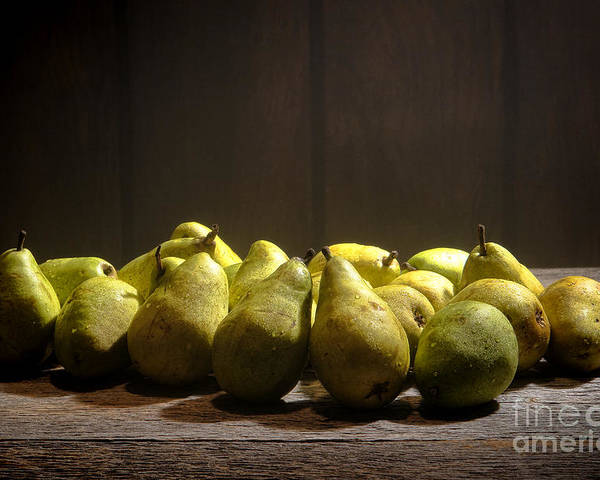 Pears Poster featuring the photograph Pears by Olivier Le Queinec