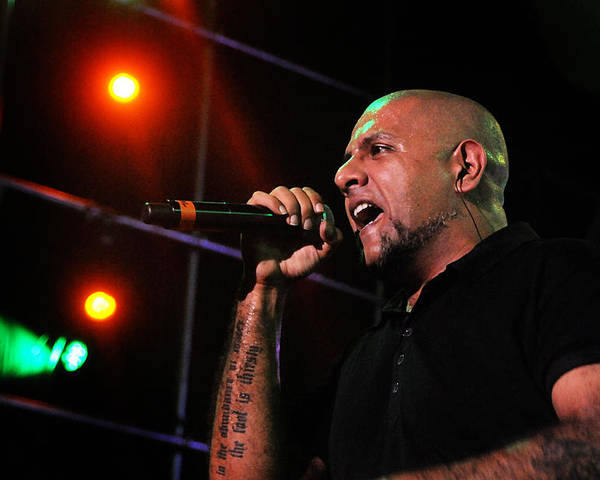 Vishal Dadlani Poster featuring the photograph Performer by Money Sharma