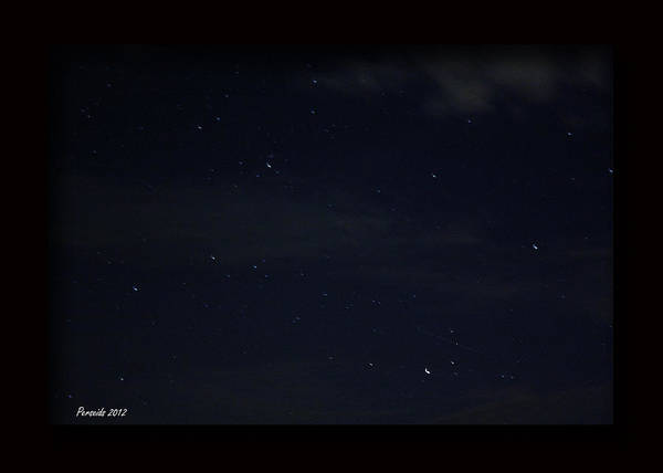 Perseid Meteor Shower Poster featuring the photograph Perseid Meteor by PJQandFriends Photography