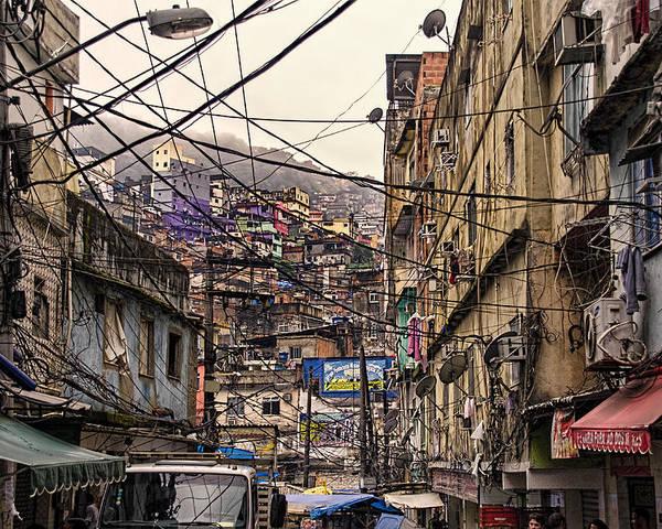 rio de janeiro brazil favela poster by jon berghoff