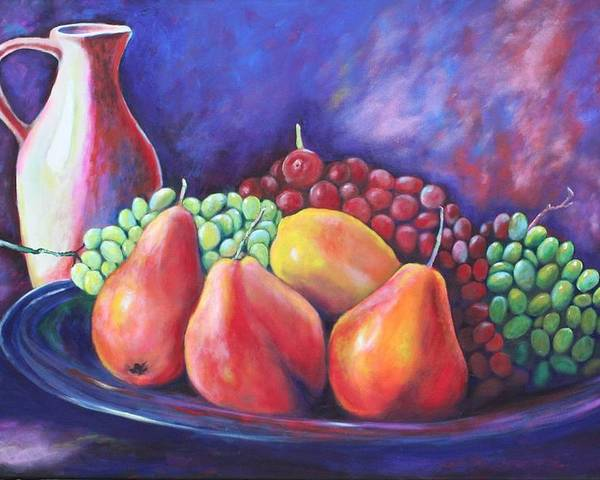 Fruit Poster featuring the painting Simple Abundance by Eve Wheeler