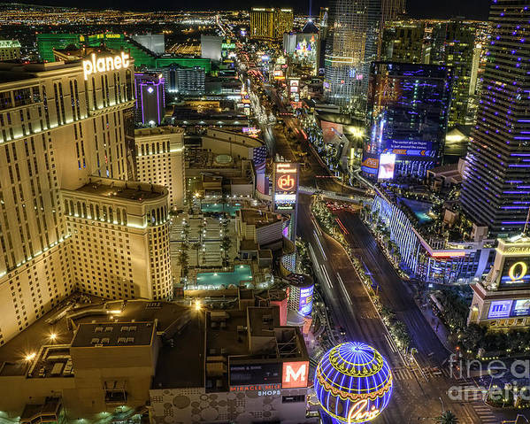 Strip Poster featuring the photograph Sin City by Eddie Yerkish