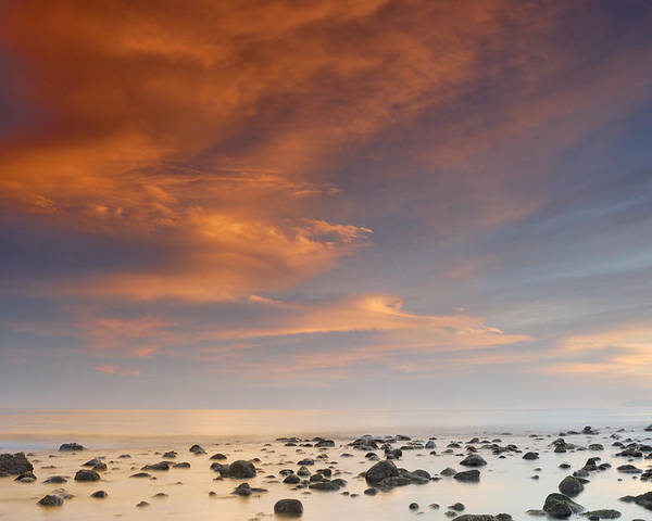 Sunset Poster featuring the photograph Small Stones Islands by Guido Montanes Castillo