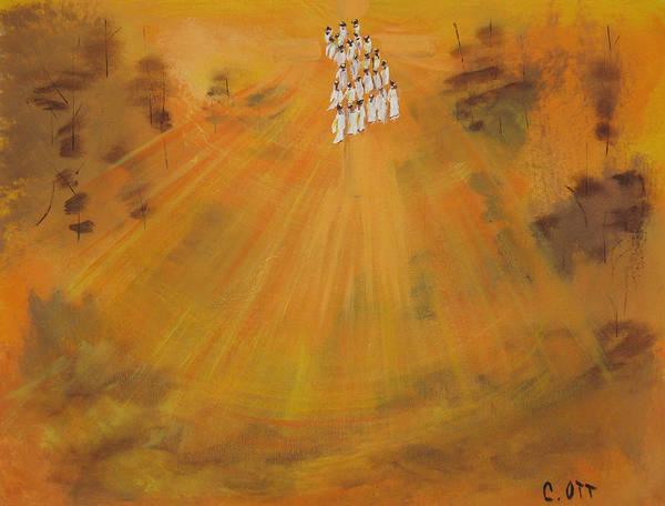 Sunshine Poster featuring the painting Sun Choir by Calvin Ott