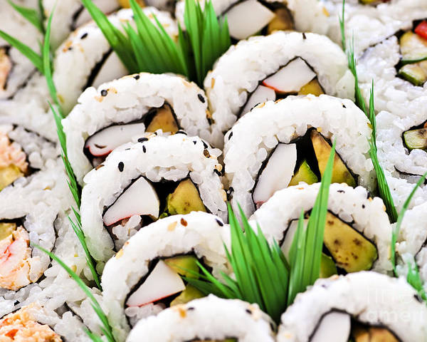Sushi Poster featuring the photograph Sushi Platter by Elena Elisseeva
