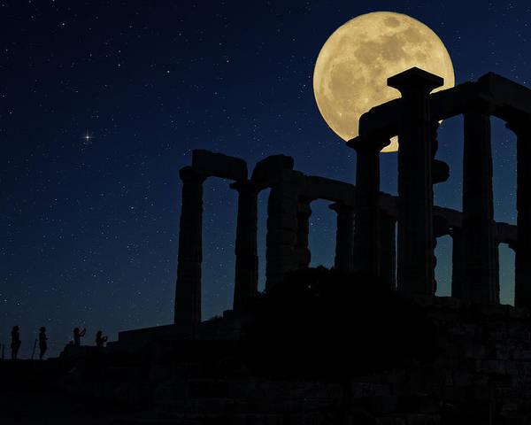 Agios Isidoros Poster featuring the photograph Temple Of Poseidon by Emmanuel Panagiotakis
