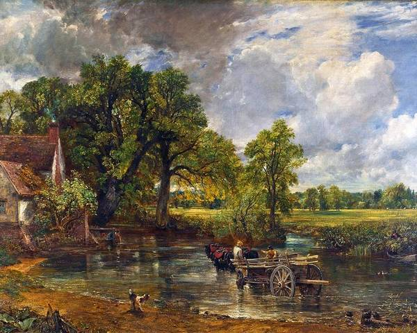 The Hay Wain Poster featuring the painting The Hay Wain by John Constable