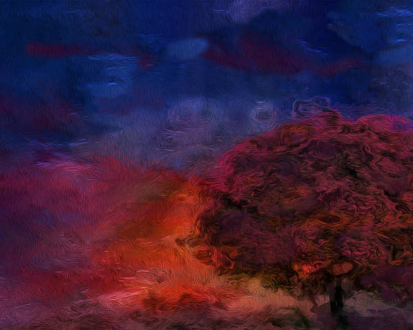 Abstract Poster featuring the painting Through The Mist by Jack Zulli