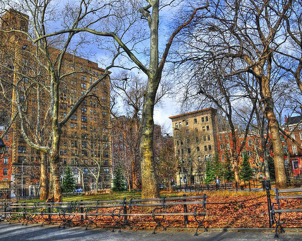 Washington Square Park Poster featuring the photograph Washington Square Park by Randy Aveille
