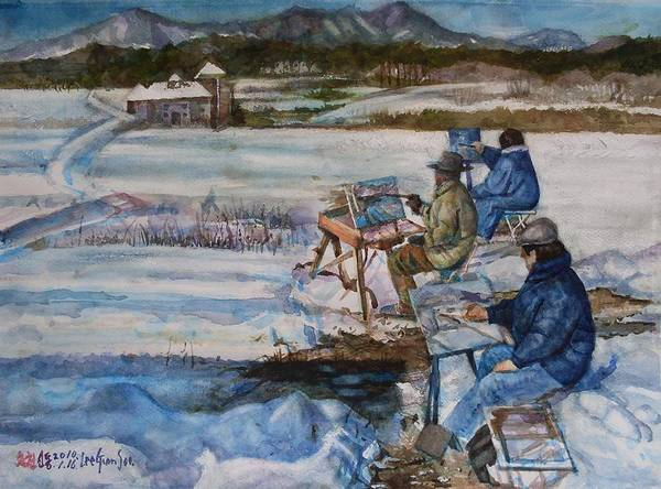 Watercolor Poster featuring the painting 2-watercolor Landscapes by Lee Geumsoo